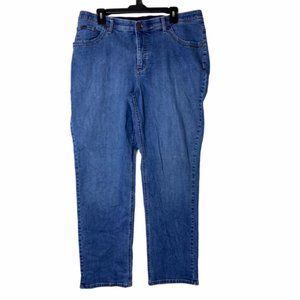 Lee Womens High Rise Straight Denim Jeans Size 18W